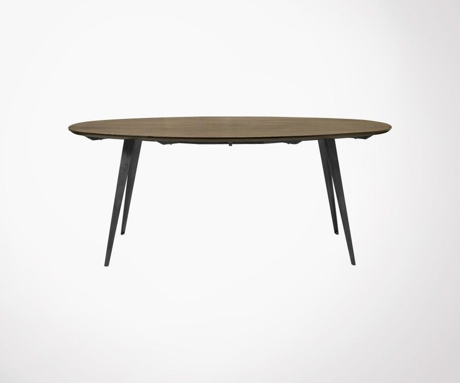 Grande table ovale bois MAMMOTH - Nordal