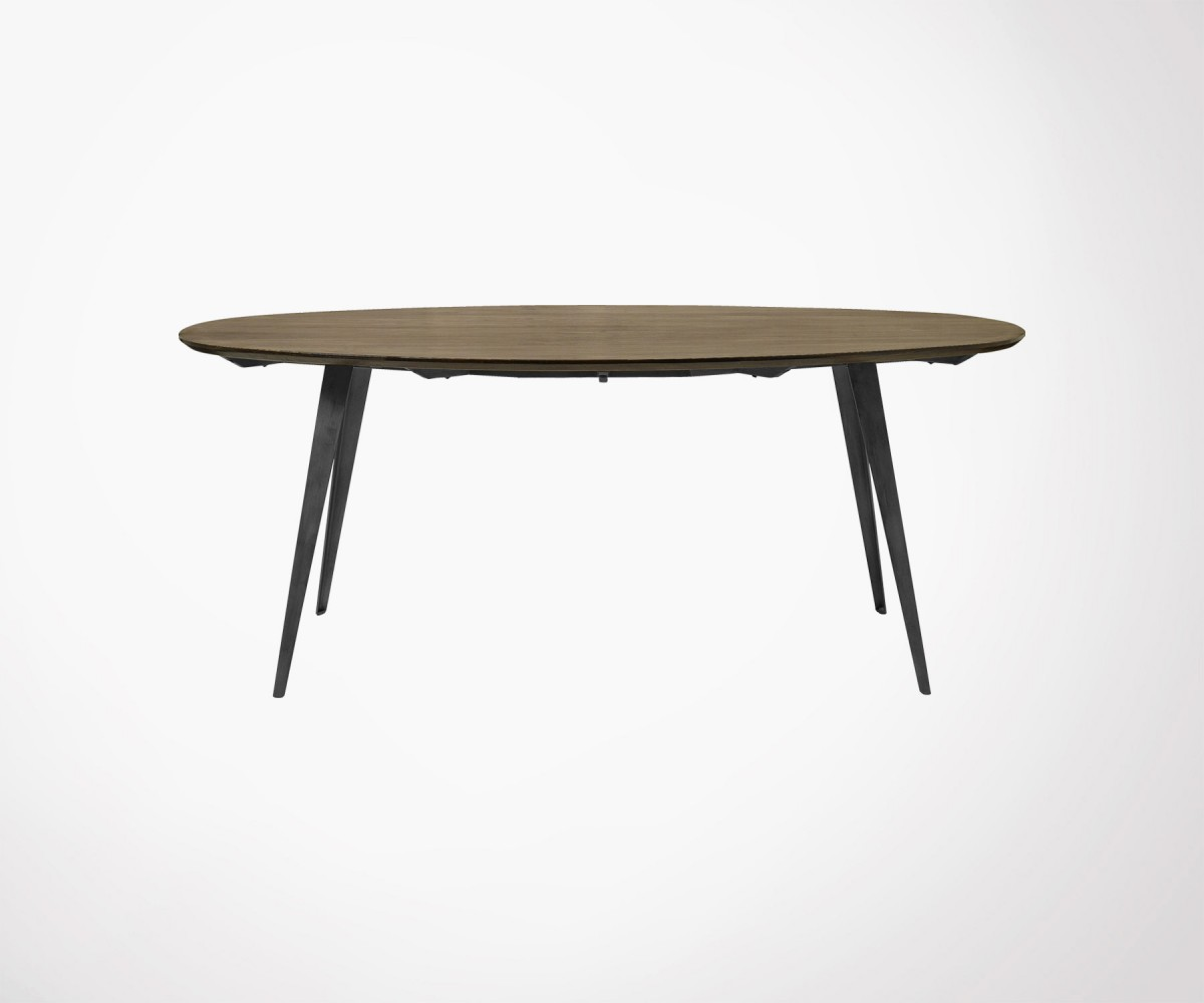 Grande table ovale bois massif 200x100cm marque scandinave ...