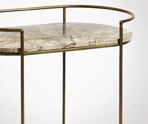 Table d'appoint ovale style antique JUNGLE - Nordal