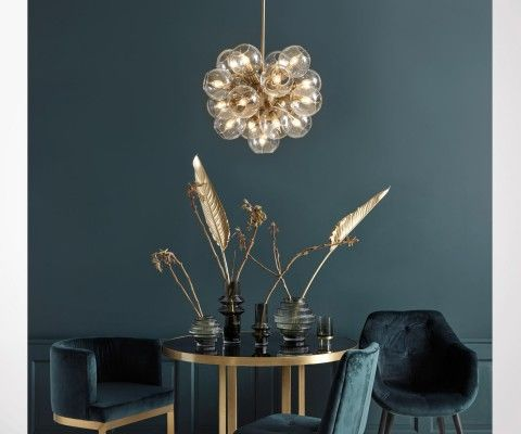 Lampe suspendue verre et laiton ATOMIC - Nordal