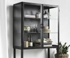 Cabinet vitrinne métal noir FOGGY - Nordal