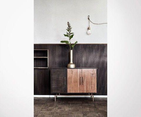 Buffet bas design 120cm art déco BUFORK - Nordal