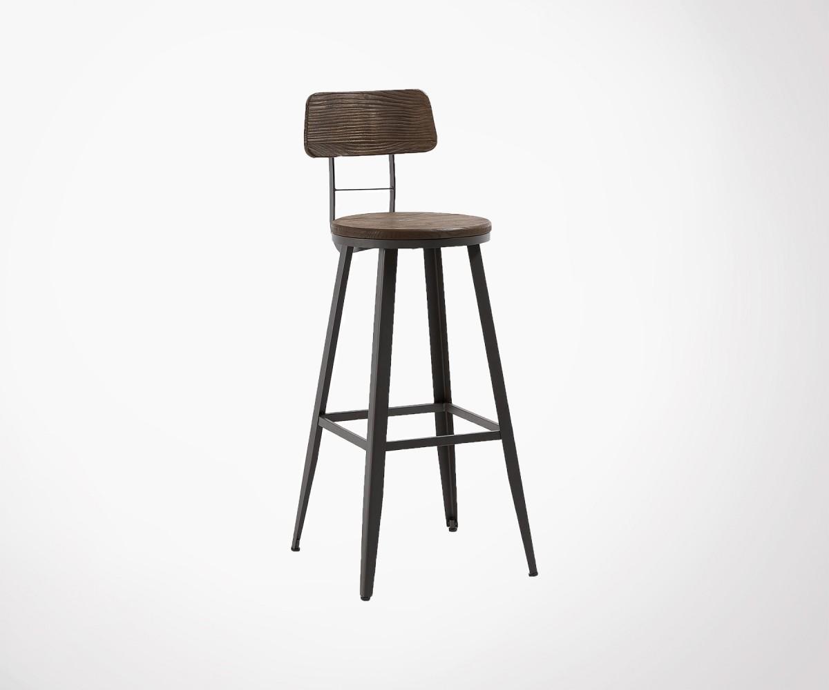 tabouret de bar bois m tal int ext style industriel et rustique. Black Bedroom Furniture Sets. Home Design Ideas