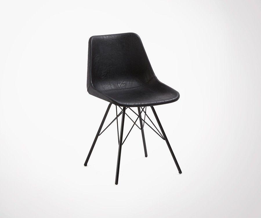 Chaise noire design pour salle manger tous styles - Chaise cuir noir salle manger ...