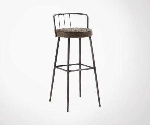 Upholstered industrial stool TIGUANNE