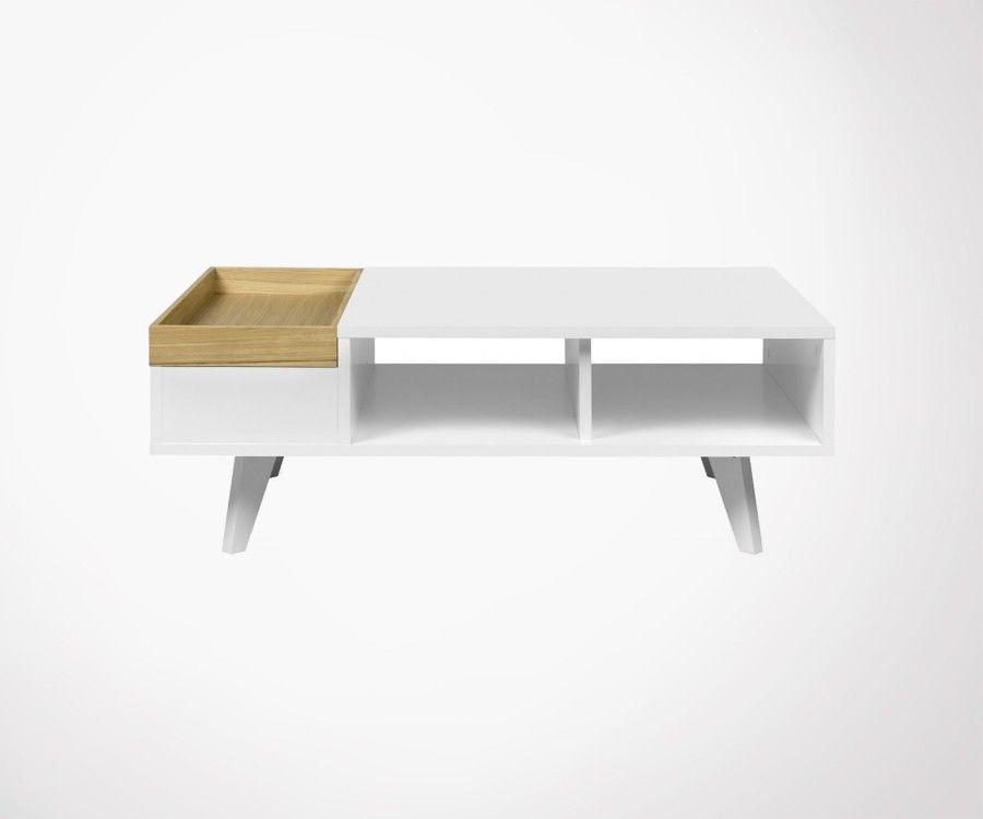 Table basse amovible plateau chêne PLATON