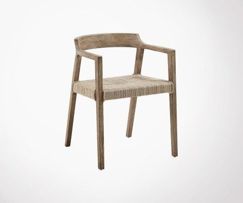 Design chair solid teak int / ext ROTENA