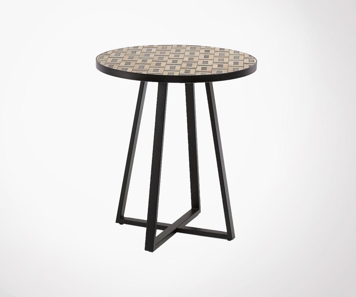 Petite table à manger design 70cm ronde 2pers marbre et ...