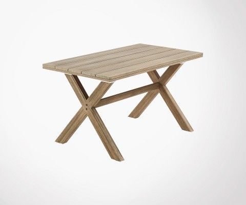 Small dining table int / ext 140cm solid wood PILOSK