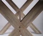 Petite table à manger int/ext 140cm bois massif PILOSK