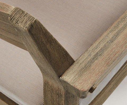 Fauteuil bois massif int/ext avec coussin GRENNE