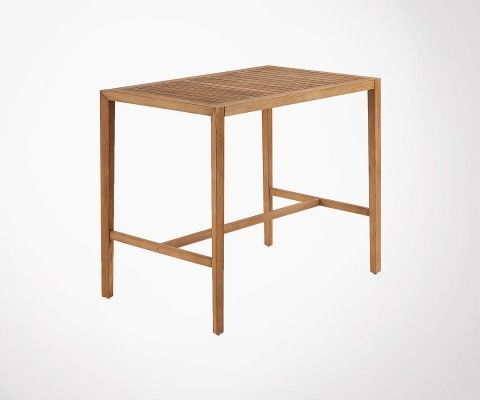 Table haute 130cm bois massif int/ext PALPATINE