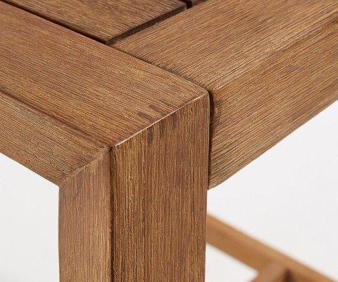 Petite table haute int/ext 80x80cm bois massif PALPATINE
