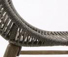 Fauteuil int/ext corde et bois massif TINNA