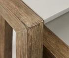 Tables gigognes bois massif et ciment PYKEM