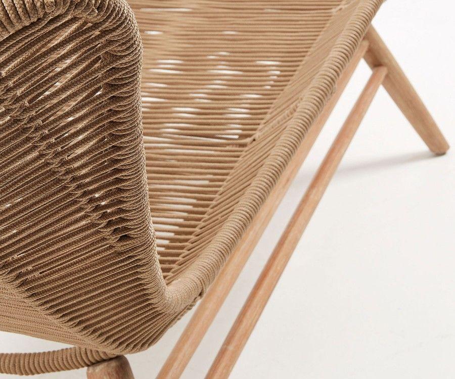 Chaise Longue De Jardin Bois Massif Eucalyptus Et Corde A Decouvrir