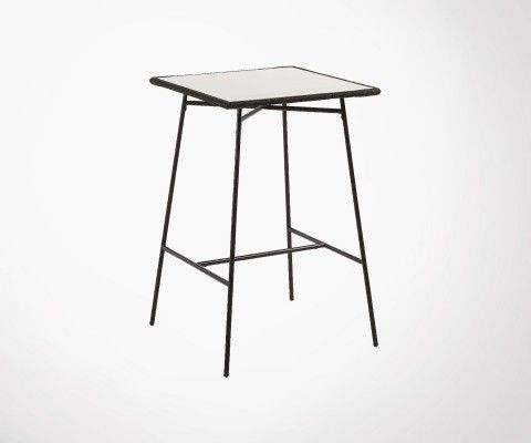 Table haute de jardin 70x70cm design moderne SEATTLE