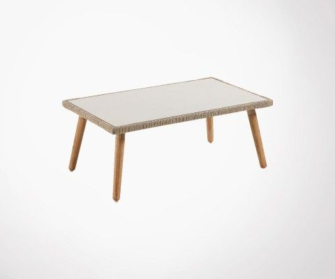 Table basse de jardin 100x60cm BAPPE