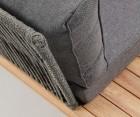 Canapé angle int/ext tissu et bois massif HUMBLE