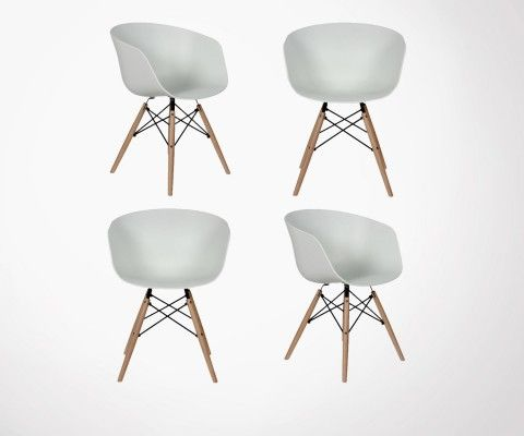 4 Fauteuils style Nordique RAY