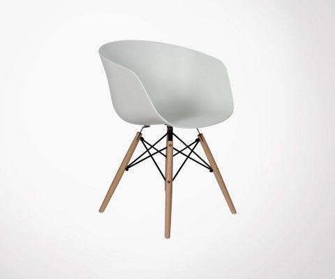 Lot 4 Fauteuil style DAW-RAY - Blanc