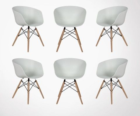 6 Fauteuils style Nordique RAY