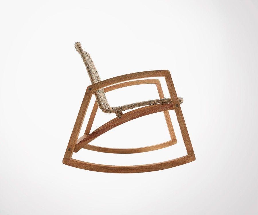 Porsh Solid Wood Ext Rocking Armchair Meubles Et Design