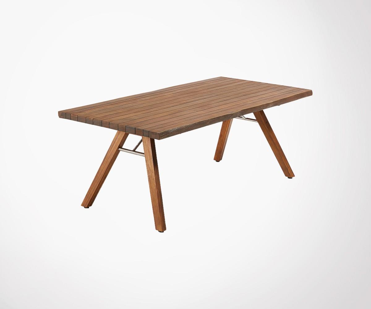 Grande table à manger bois massif acacia 200cm style nature ...