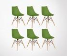 Lot 6 Chaises style DSW-DIVA - Couleurs au choix