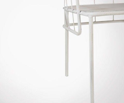 Chaise design métal blanc CUVE - J-line