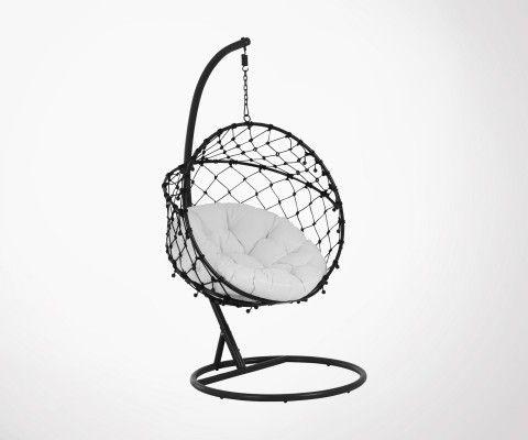 Chaise suspendue corde tressée pliable TENIKA - J-line