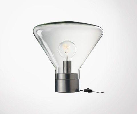 Lampe à poser verre et métal ALBO - J-line