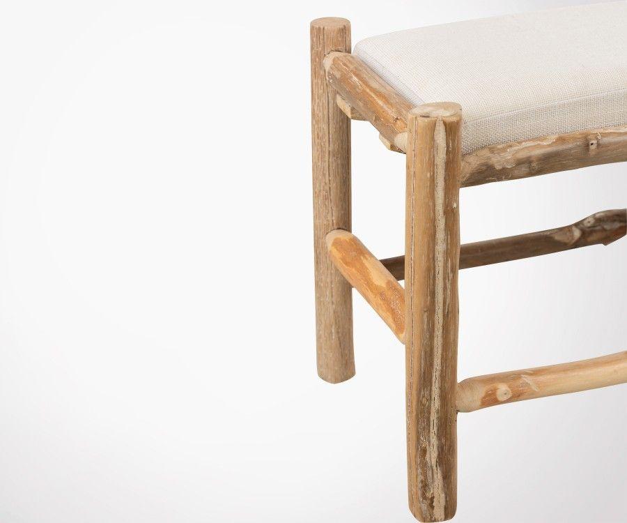 Banc 100cm bois naturel avec coussin WODY - J-line