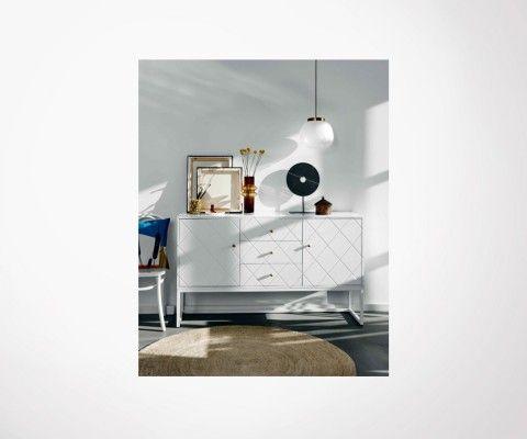 Buffet design avec tiroirs 150cm style art déco BAYO - Nordal