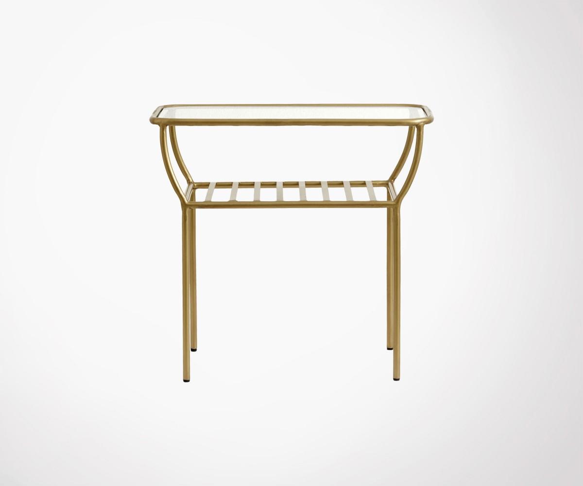 Table D Appoint Design Nordal En Fer Dore Et Verre Style Art Deco