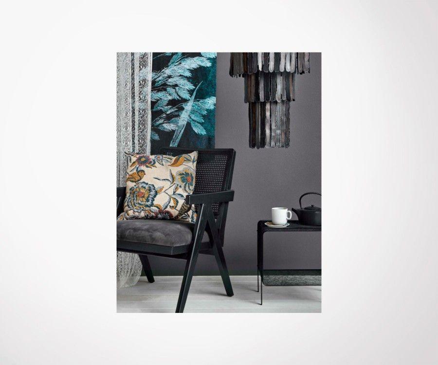 Fauteuil d'appoint design bois cannage noir WINCH - Nordal