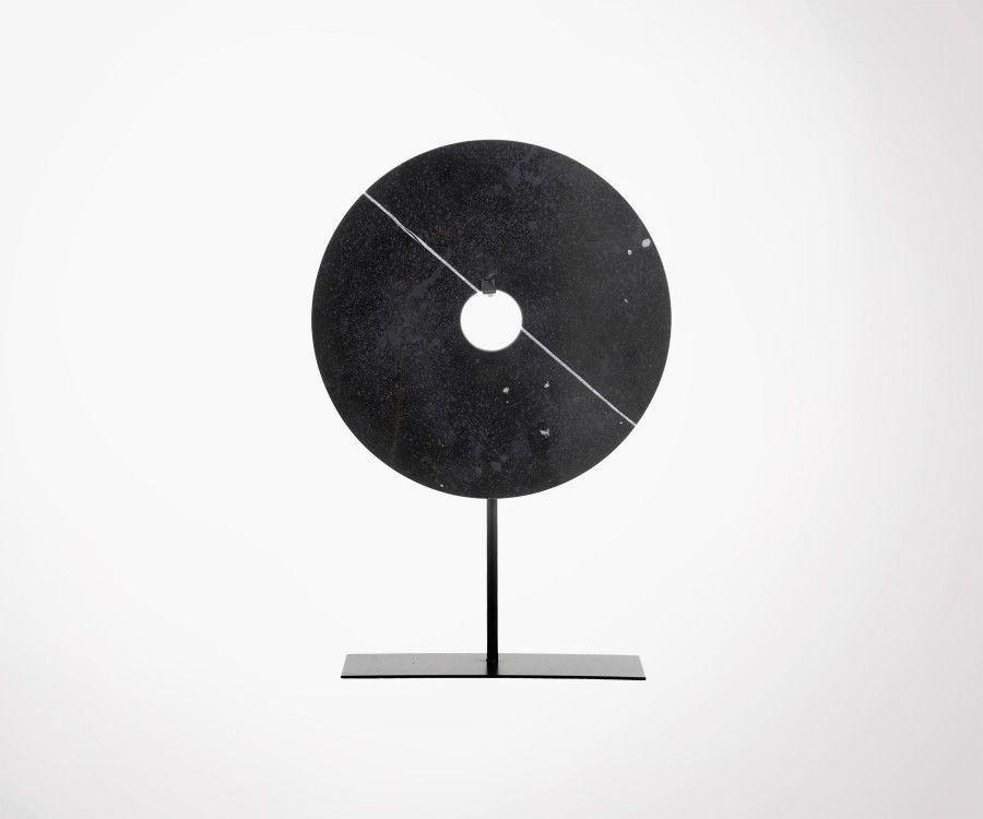Disque de marbre 30cm noir à poser STRUCT - Nordal