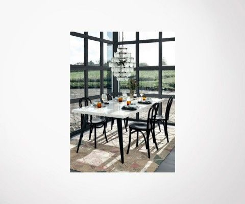 Grande table design 200cm bois massif DRESDO - Nordal