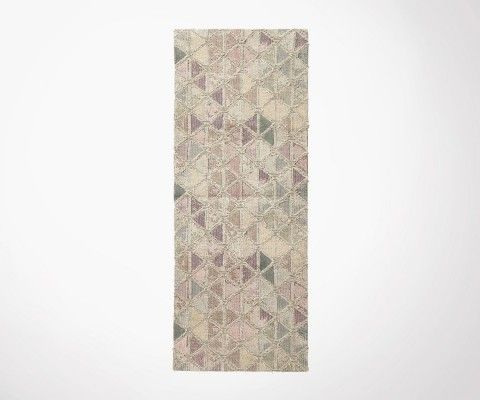 Tapis de couloir 75x200cm laine jacquard délavé MAGIC - Nordal