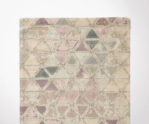 Grand tapis 160x240cm laine jacquard delavé MAGIC - Nordal