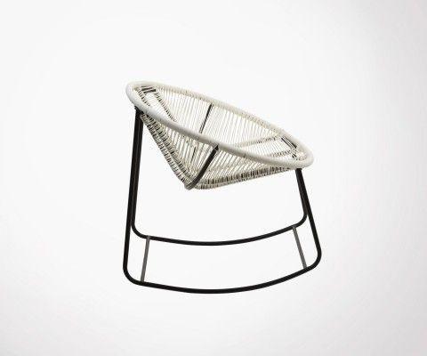 Chaise lounge à bascule corde tressée TYRA - J-line