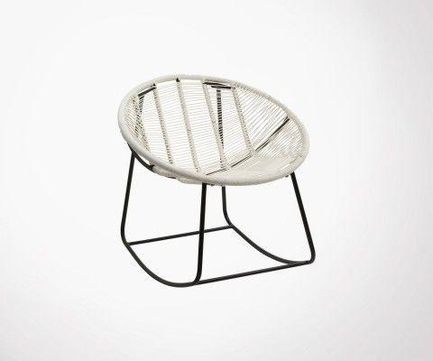Chaise à bascule lounge tissage pvc TYRA - J-line