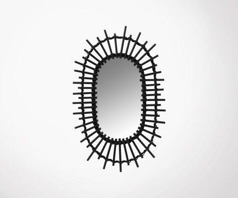 Miroir ovale 50x30cm bambou HINO - J-line