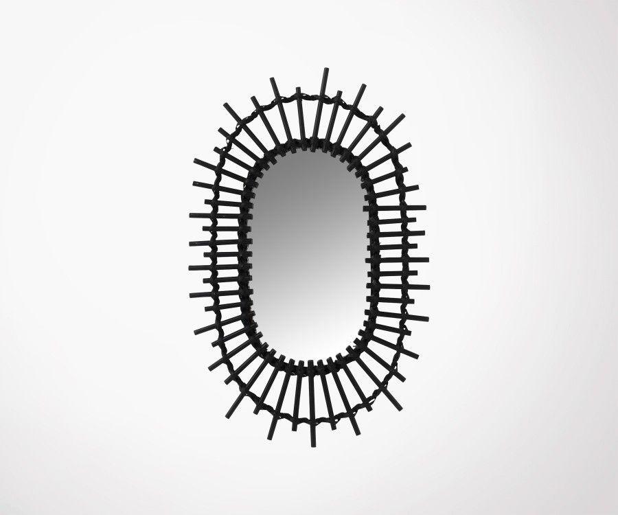 Miroir ovale bambou HINO - J-line
