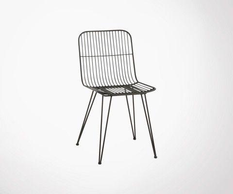 Chaise métallique design industriel KRILLE - J-line