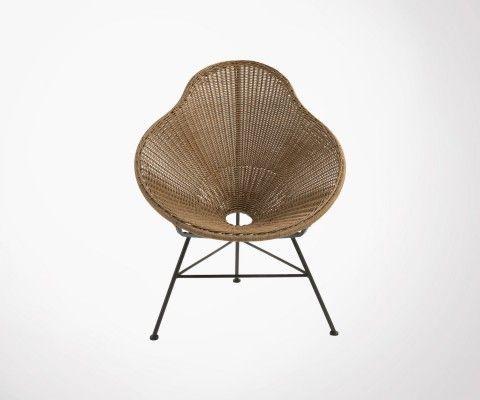 Chaise design effet rotin POIRE - J-line