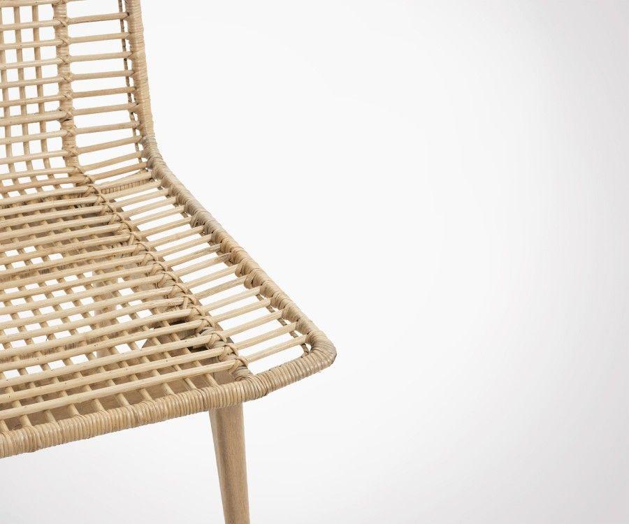 Chaise design rotin naturel XELLE - J-line