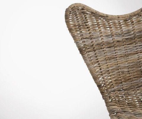Chaise papillon rotin naturel HELSSY - J-line
