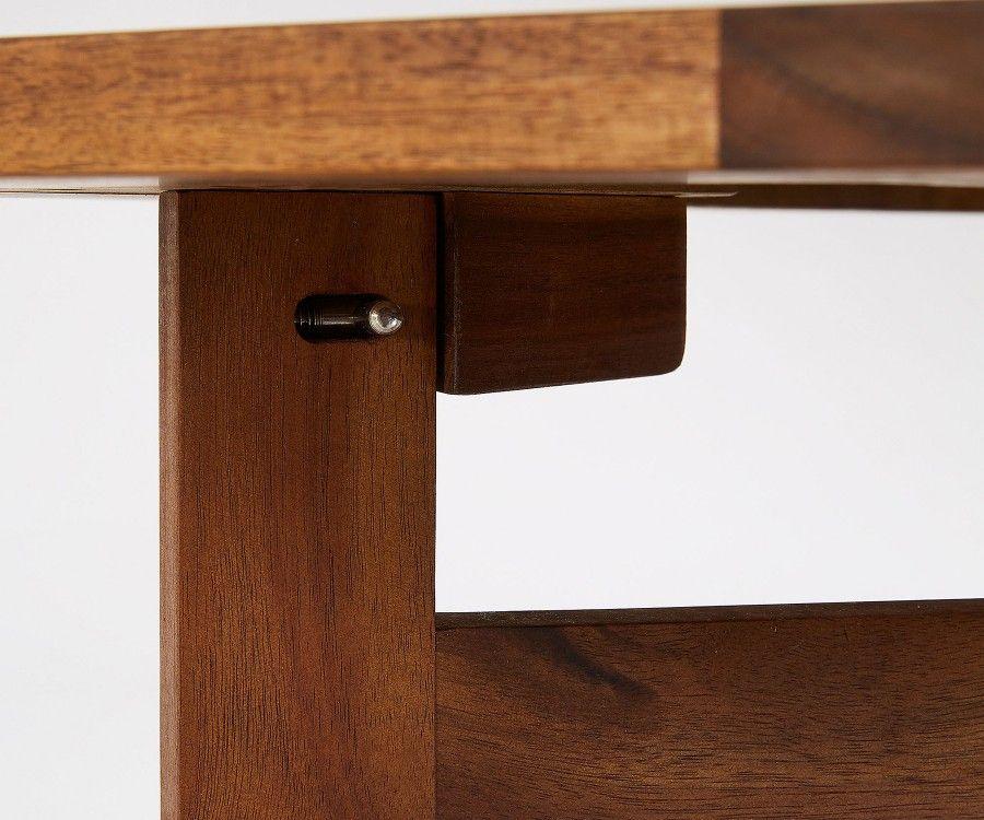 Set 4 chaises + 1 table de jardin bois acacia GWEN