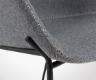 Tabouret bar laine pieds métal VETY